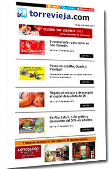 Suscribete al boletin semanal de Torrevieja.com